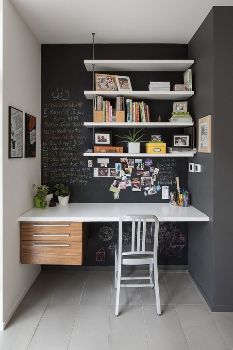 Chalkboard home office