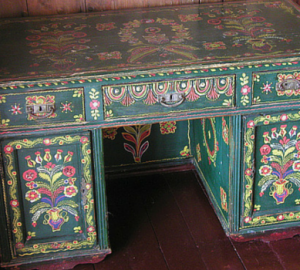 Upcycled Recycled Hand Painted Desk