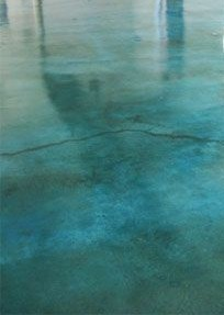 Blue Stained Concrete Flooring
