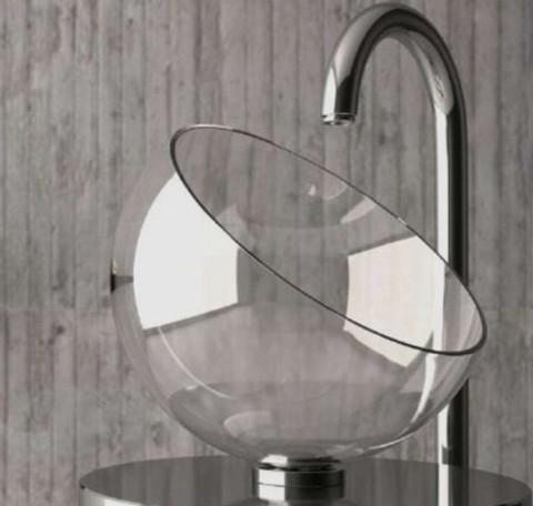 Glass Bowl Shaped Bathroom Sink