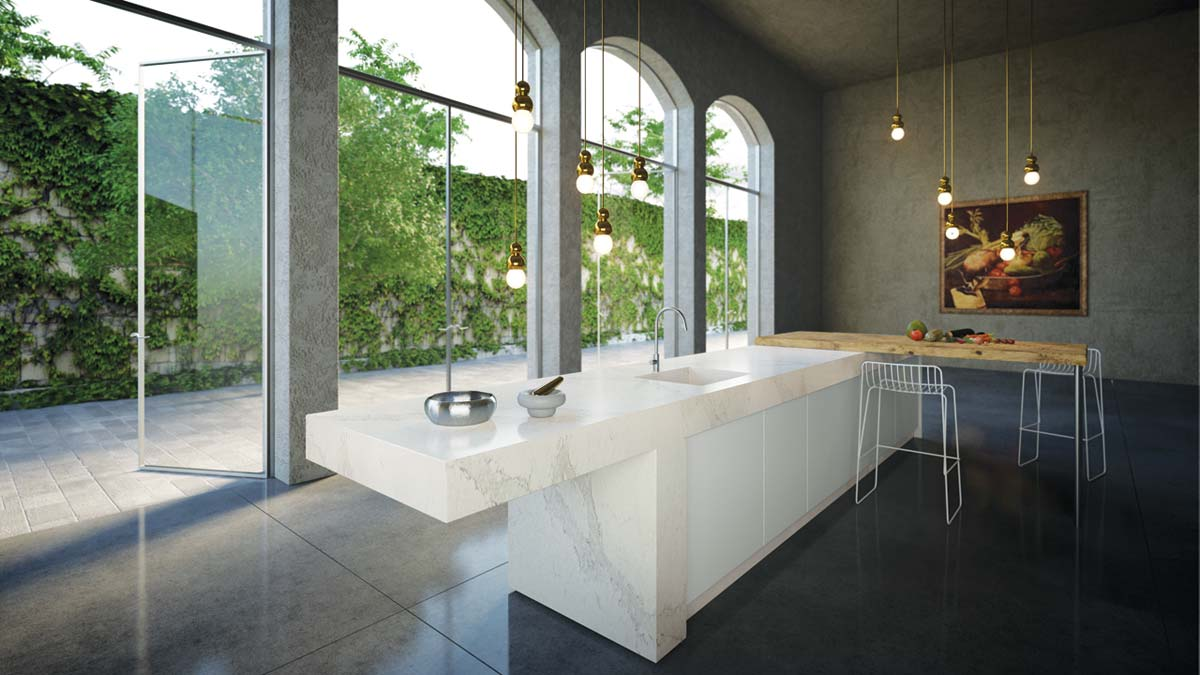 Designer Kitchen With Caesarstone Worktops