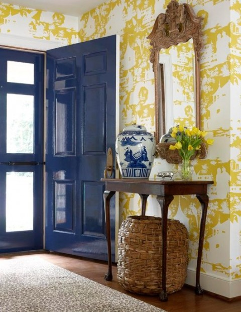 Lacquered Blue Gloss Door