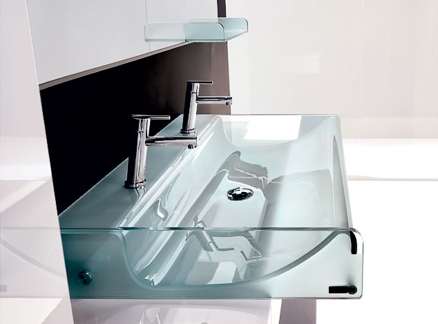 Minimalist small bathroom - 10 Stylish Designer Glass Sinks
