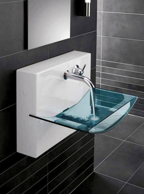 Designer Floating Glass Sink