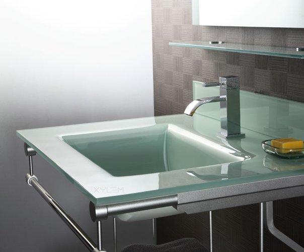 10 stylish designer glass sinks for Glass bathroom sinks countertops