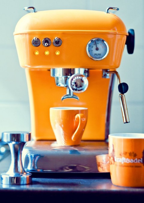 Funky Kitchen Appliances To Brighten Up Your Kitchen - Orange Coffee Machine