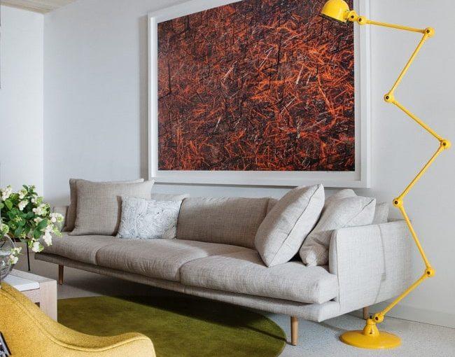 10 Designer Floor Lamps - Jardan 'Nook' sofa & Jieldé lamp.