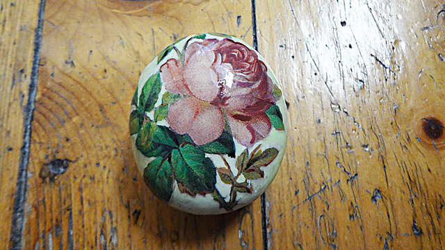 Decoupage Rose Print