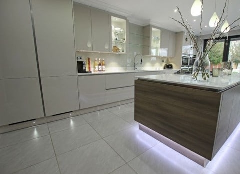 10 Ways To Light Your Kitchen To Achieve The Right Look & Ambience - Plinth Lighting In Modern Designer Kitchen
