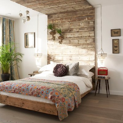 4 Ways To Create The Rustic Glam Look At Home - Wooden bed & headboard