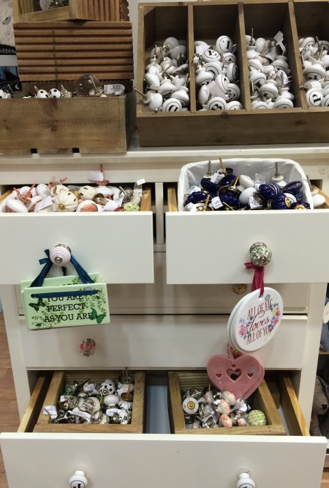 Marks & Spencer's Shabby Chic Cupboard With Door Knob Display