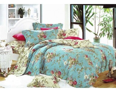 Five Ways To Brighten A Dull And Boring Bedroom - Blue Flowery Bedding