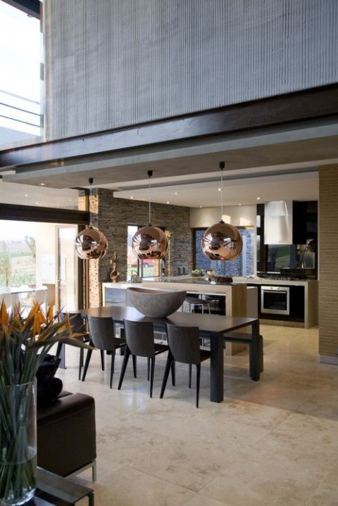 10 Ways To Light Your Kitchen To Achieve The Right Look & Ambience - Copper Pendent Lights In The Kitchen