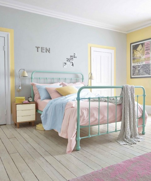 Five Ways To Brighten A Dull And Boring Bedroom - Pastel Pink, Yellow & Blue