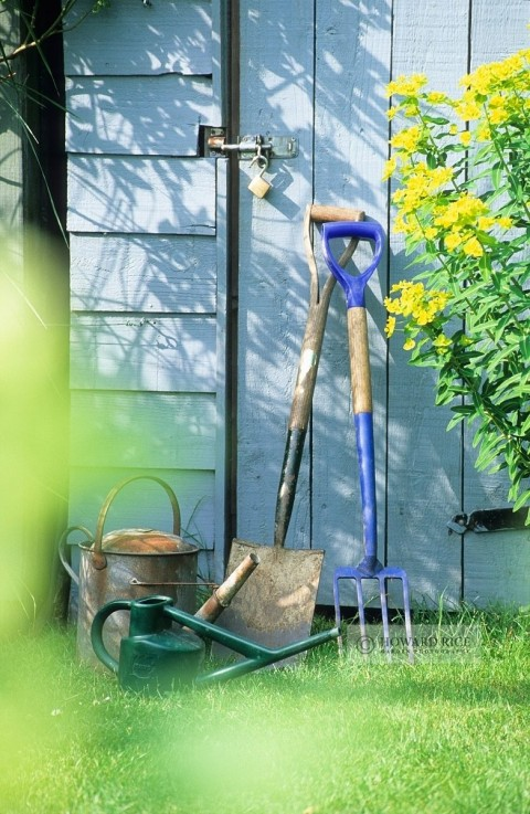 Awesome Gardening Gift Ideas For The Gardener In Your Life - Garden Tools & Blue Garden Shed