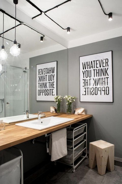Trendy Home Upgrades for 2015 - Grey Painted Bathroom