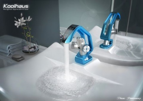 Designer Bathroom Faucets - Koolhaus German Water Saving Blue Faucet
