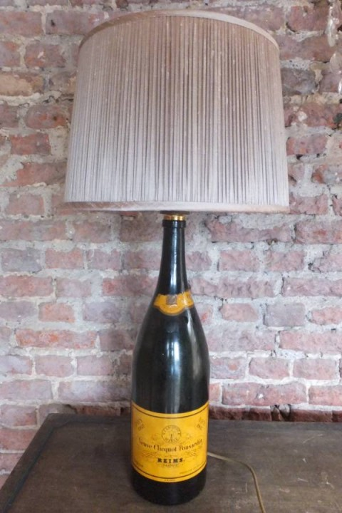 3 Upcycling Projects You Can Start Today - Drawer Bulletin Board - Champagne Bottle Lamp Stand