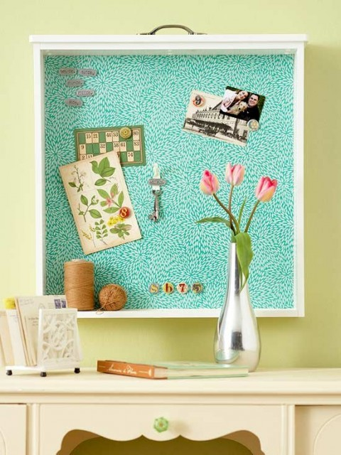 3 Upcycling Projects You Can Start Today - Drawer Bulletin Board