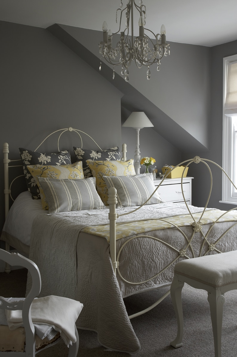 Gray Room Design Ideas: 19 Original Yellow And Gray Bedrooms Design Ideas