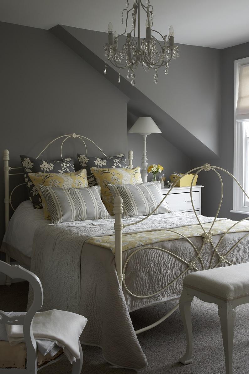 Gray Bedroom Design Ideas: 19 Original Yellow And Gray Bedrooms Design Ideas