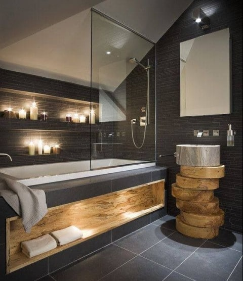 How To Design Your Home's Lighting - Candles Lighting In Bathroom