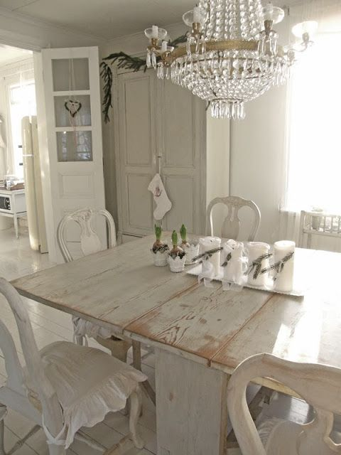 Creating a shabby chic dining room - Shabby chic dining rooms ...