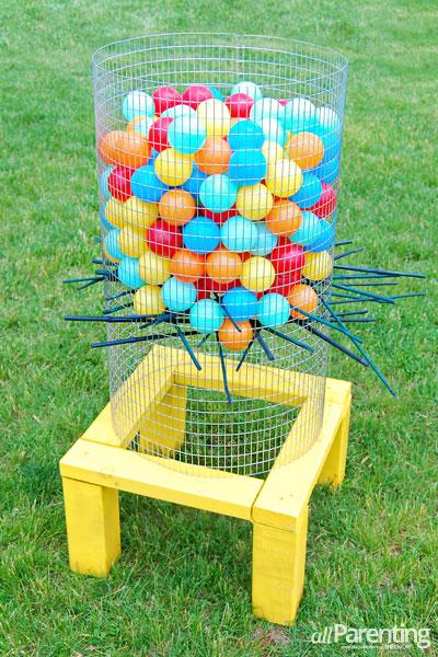 10 Fun Garden Toys - Homemade Ker-Plunk game