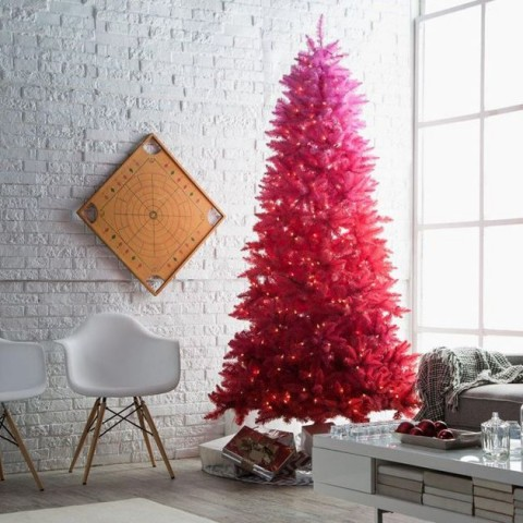 UK's Top Five Christmas Decorations - fuax Pink Christmas Tree