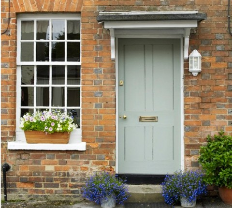 6 Ways To Add Value To The Exterior Of Your Property - Wooden Door & Wooden Sash Window