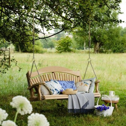 5 Ways To Create A Relaxing Garden - Garden Swing Chair