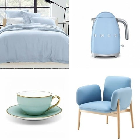 Interior Design Trends For 2016 - Vogue Living: Pastel Blue Colour Serenity.