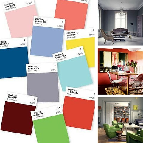 Interior Design Trends For 2016 - Pantone's Top 10 Colours For Spring 2016