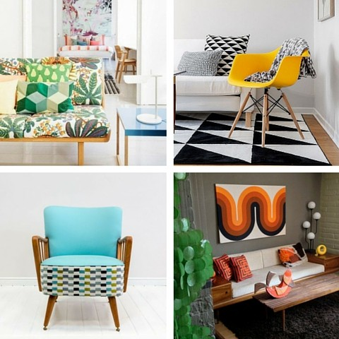 Interior Design Trends For 2016 - 1970's Scandinavian Furniture With Bold Furnishings & Artwork