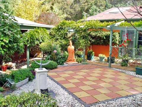 Patio Ideas For Your Garden - Chessboard Patio