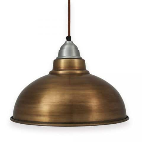 Industrial Materials For Your Interior - Manhattan Industrial Brass Vintage Pendant Light