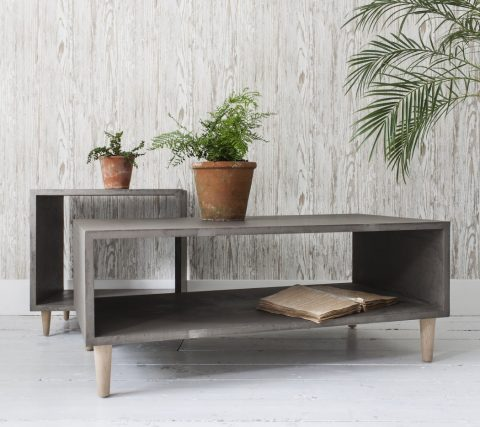 Industrial Materials For Your Interior - Hudson Living Ohio Cube Coffee Table. Modish Living