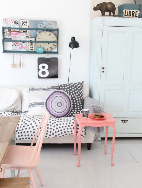 A Look into Interior Design Trends 2017 - Pastel Rose, Coral and Blue