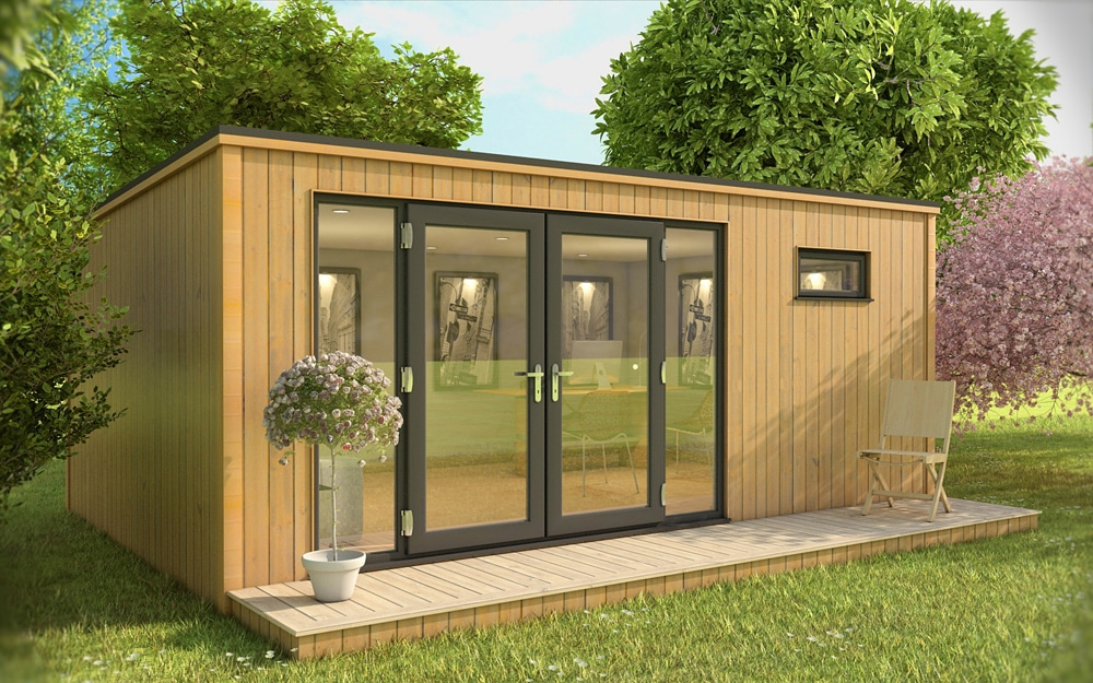 Garden rooms provide extra space for the whole family for Oeco garden office