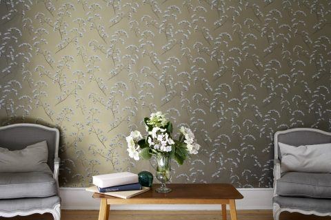 2016 Pattern Trends: Which Wallpaper Personality Are You? Jocelyn Warner Wallpaper Blossom Renaissance Gold