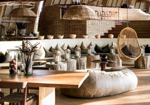 Designing An On-Trend Bedroom In 2016 - Raffia Trend - Sandibe Okavango Safari Lodge in Botswana Image By TravelAndLeisure.com