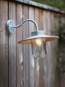 Creating The Perfect Outdoor Lighting - Galvanised Swan Neck Light