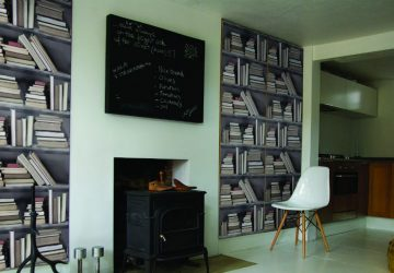 2016 Pattern Trends: Which Wallpaper Personality Are You? Vintage Bookshelf Wallpaper
