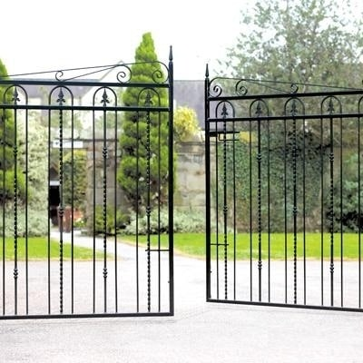 5 Reasons Why Gates & Railings Will Enhance Your Home - Windsor Wrought Iron Style Metal Driveway Gates