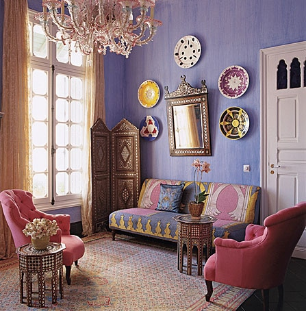 A Guide To Creating The Perfect Bohemian Home - Morrocan Elle Decor By Coco + Kelly