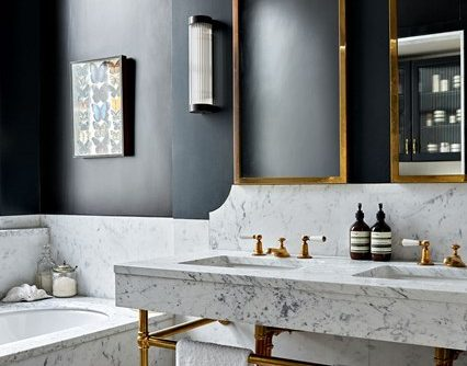 Top 10 Interior Design Trends For 2017 - Marble Bathroom - Image From House & Garden - Image By Paul Massey