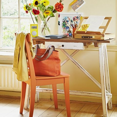 How To Give Your Home The Ultimate Rustic Makeover - Rustic Painted Office Furniture By House To Home
