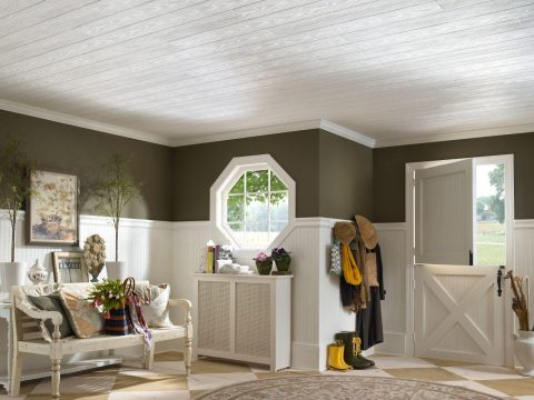 How To Use Ceiling Tiles To Decorate Your Living Room - Wooden Ceiling