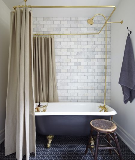 Give Your Bathing Quaters A Sprinkle Of Vintage - Image From HouseAndHome.com - Mandy Milks's Bathroom Makeover