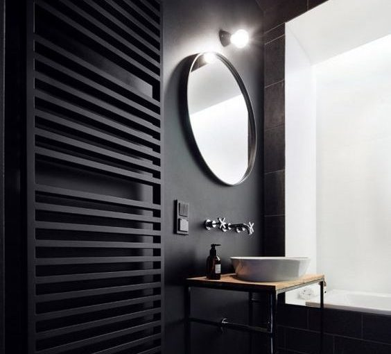 The Many Benefits of Top Quality Towel Warmers - black contemporary towel warmer - From usa.hudsonreed.com